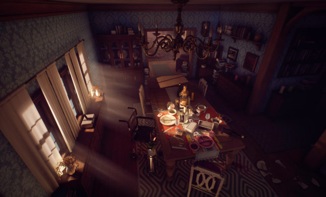 Jeu What Remains of Edith Finch sur Nintendo Switch : aperçu de la salle à manger