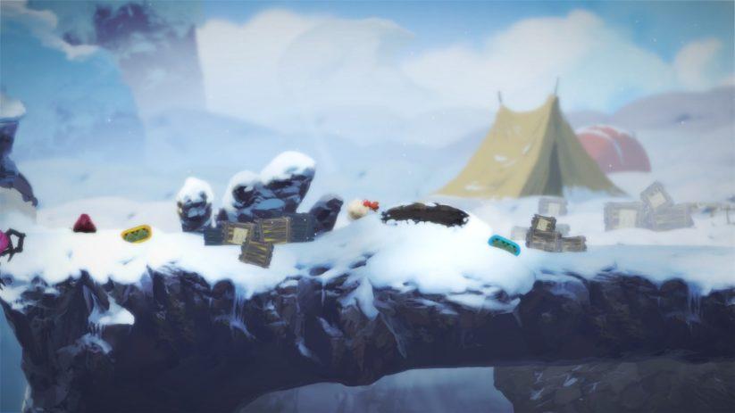 Jeu Yoku's Island Express sur Nintendo Switch : dans les montagnes enneigées