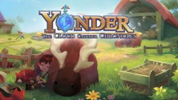 Jeu Yonder The Cloud Catcher Chronicles sur Nintendo Switch : écran titre