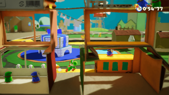 Jeu Yoshi's Crafted World sur Nintendo Switch : l'envers du décor de la gare