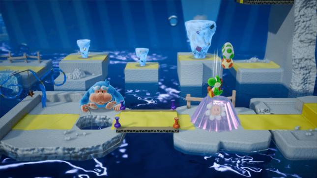 Jeu Yoshi's Crafted World sur Nintendo Switch : charge au sol