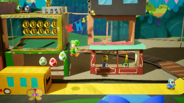 Jeu Yoshi's Crafted World sur Nintendo Switch : petite balade en train