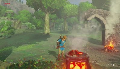 The Legend Of Zelda – Breath Of The Wild : préparer son repas et ses potions