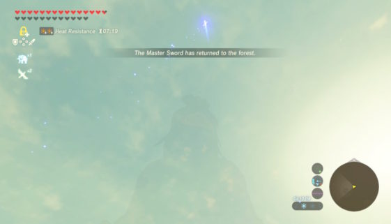 Zelda Breath of the Wild : un glitch peut vous faire perdre la Master Sword