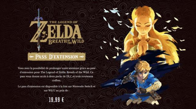 Season Pass de Zelda Breath of the Wild