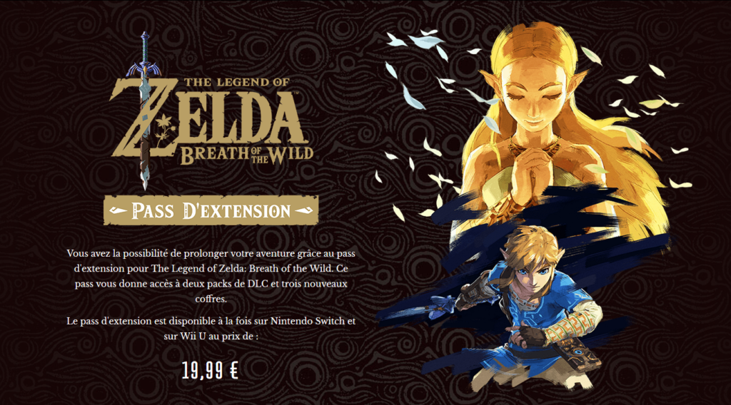 Season Pass de Zelda Breath of the Wild