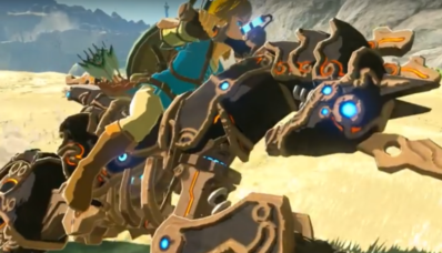 Image de Link sur le Destrier 0.1 dans The Legend of Zelda Breath of the Wild sur Nintendo Switch