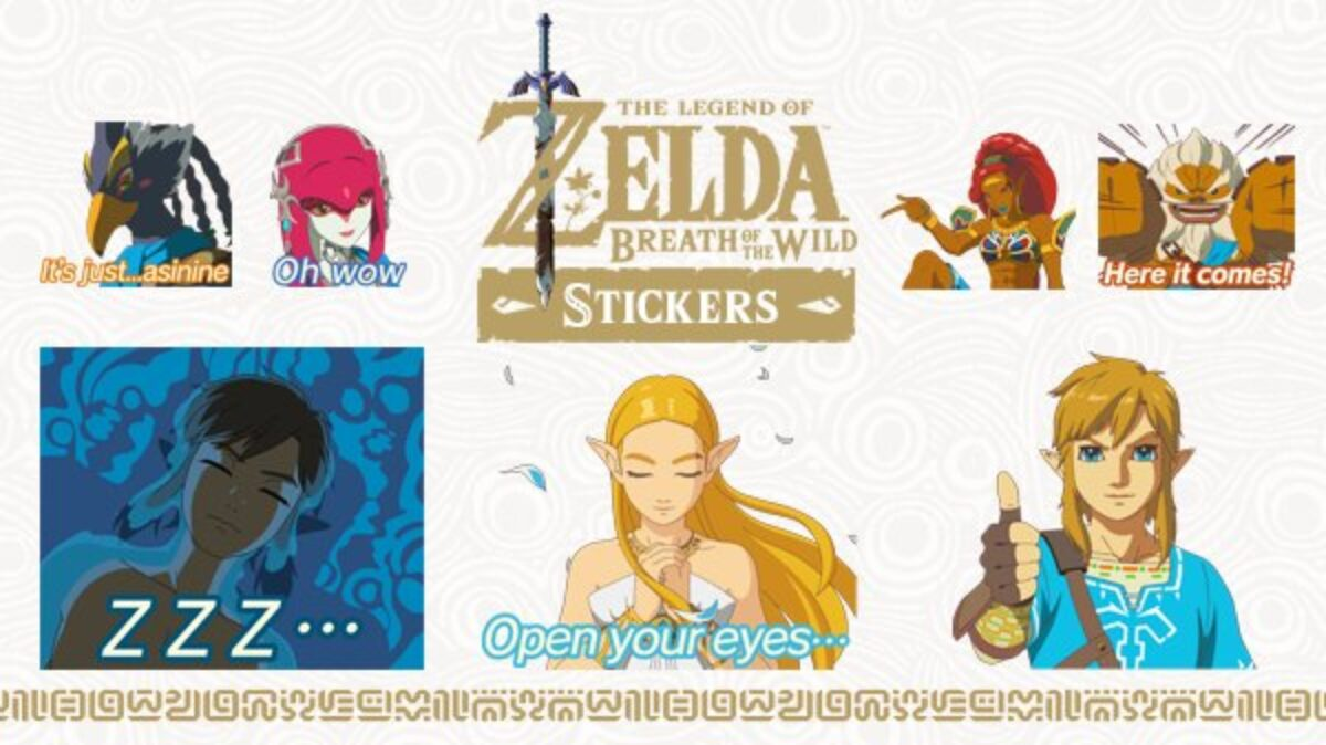 Image du pack d'autocollants animés inspirés de The Legend of Zelda : Breath of the Wild sur Nintendo Switch