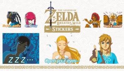 Image du pack d'autocollants animés inspirés de The Legend of Zelda : Breath of the Wild sur Nintendo Switch